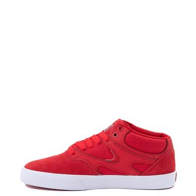Alternate view of Mens DC Kalis Vulc Mid Skate Shoe - Red