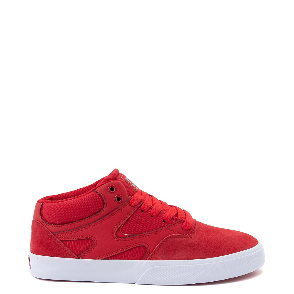 Mens DC Kalis Vulc Mid Skate Shoe - Red