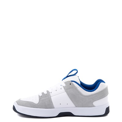 Alternate view of Mens DC Lynx Zero Skate Shoe - White / Gray / Blue