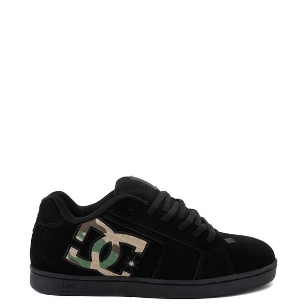 Main view of Mens DC Net Skate Shoe - Black / Camo