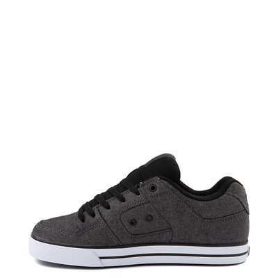 Alternate view of Mens DC Pure Skate Shoe - Charcoal Heather
