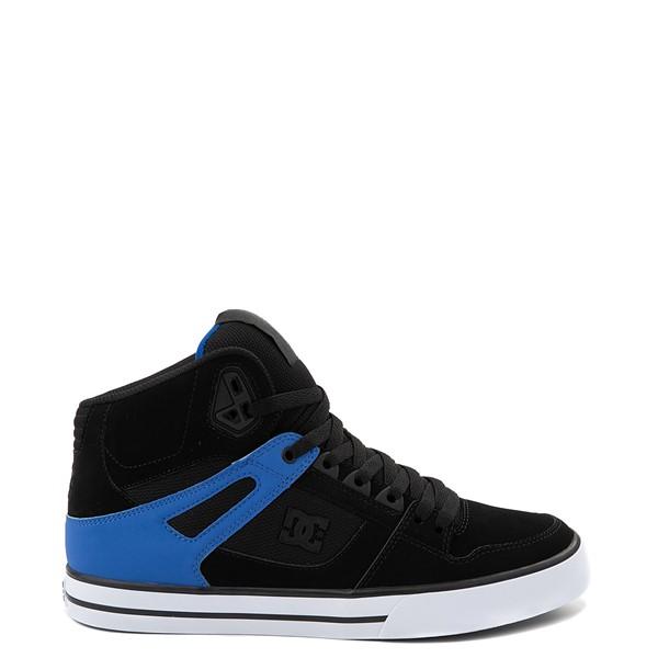Main view of Mens DC Pure Hi SE Skate Shoe - Black / Blue
