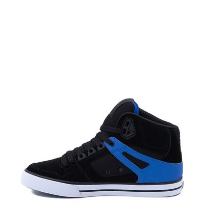 Alternate view of Mens DC Pure Hi SE Skate Shoe - Black / Blue