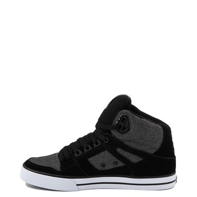 Alternate view of Mens DC Pure Hi SE Skate Shoe - Charcoal Heather