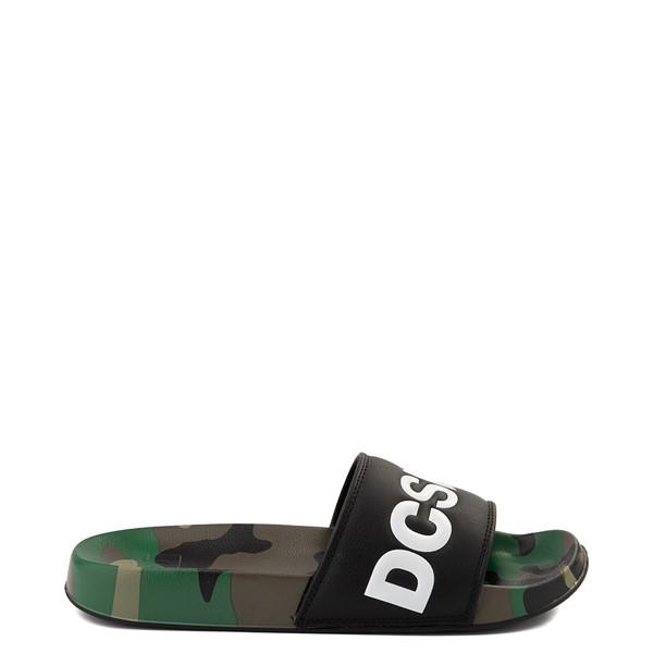 Main view of Mens DC Slider Slide Sandal - Black / Camo