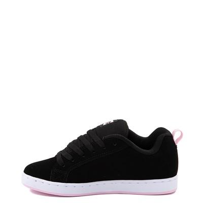 Alternate view of Womens DC Court Graffik Skate Shoe - Black / Pink
