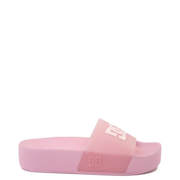 Main view of Womens DC Slider Platform Slide Sandal - Pink