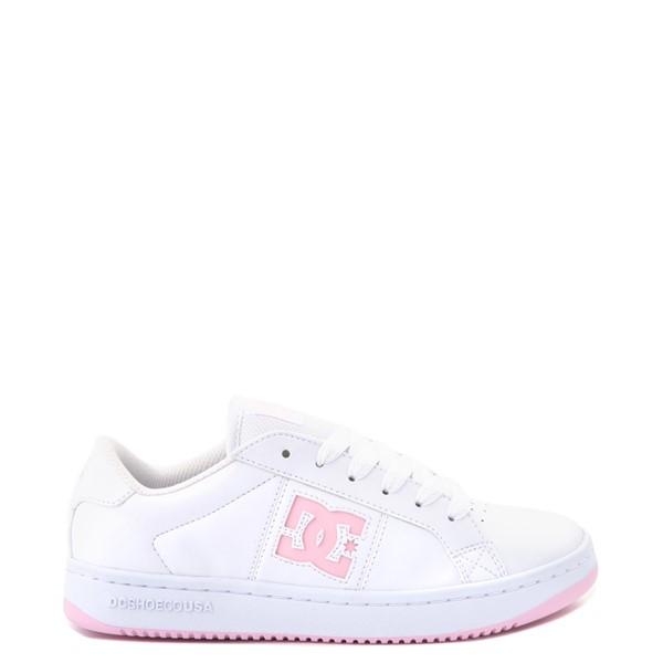 Main view of Womens DC Striker Skate Shoe - White / Pink