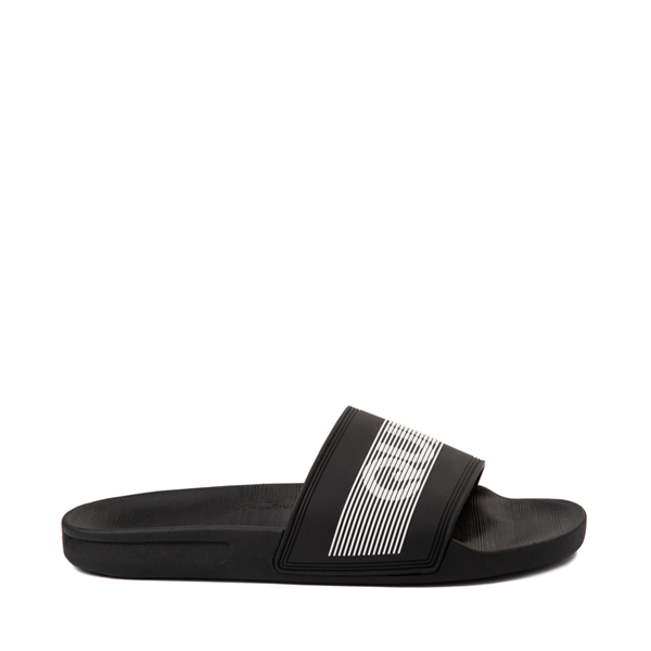 Main view of Mens Quiksilver Rivi Wordmark Slide Sandal - Black