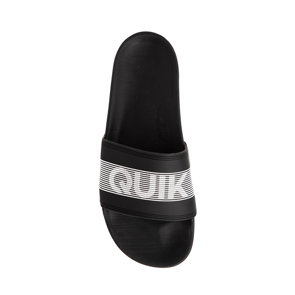 alternate view Mens Quiksilver Rivi Wordmark Slide Sandal - BlackALT2