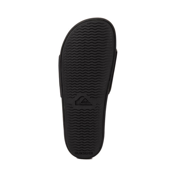alternate view Mens Quiksilver Rivi Wordmark Slide Sandal - BlackALT3