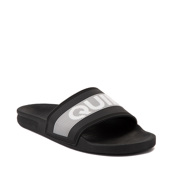 alternate view Mens Quiksilver Rivi Wordmark Slide Sandal - BlackALT5