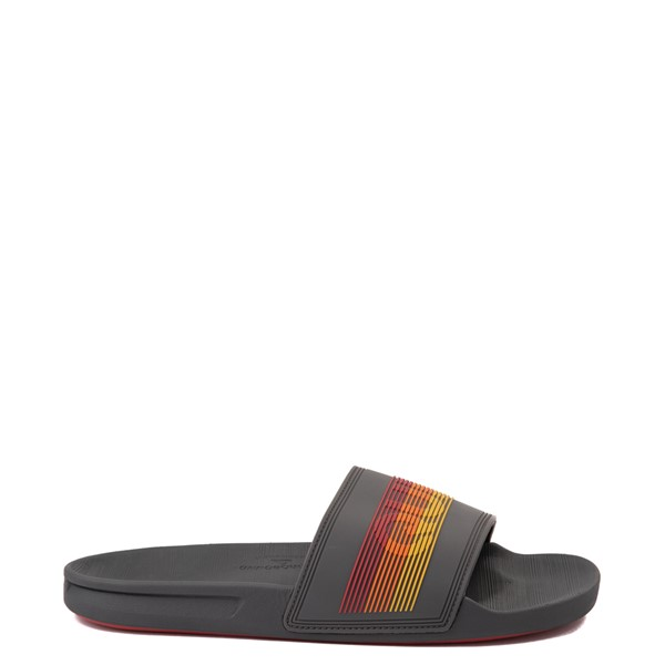 Main view of Mens Quiksilver Rivi Wordmark Slide Sandal - Gray