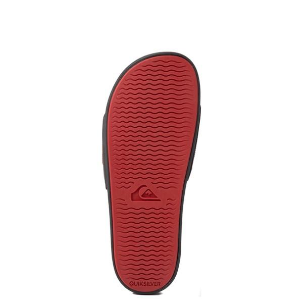alternate view Mens Quiksilver Rivi Wordmark Slide Sandal - GrayALT3