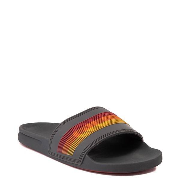 alternate view Mens Quiksilver Rivi Wordmark Slide Sandal - GrayALT5