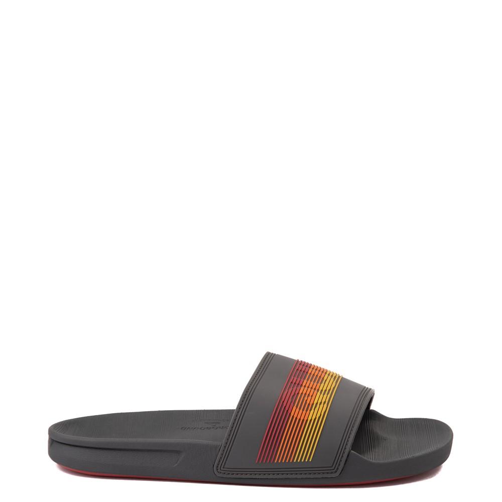 Mens Quiksilver Rivi Wordmark Slide Sandal - Gray