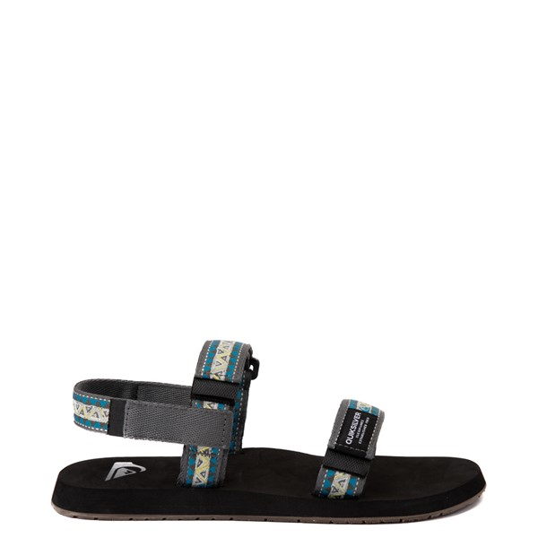 Main view of Mens Quiksilver Monkey Caged Sandal - Green / Blue / Gray