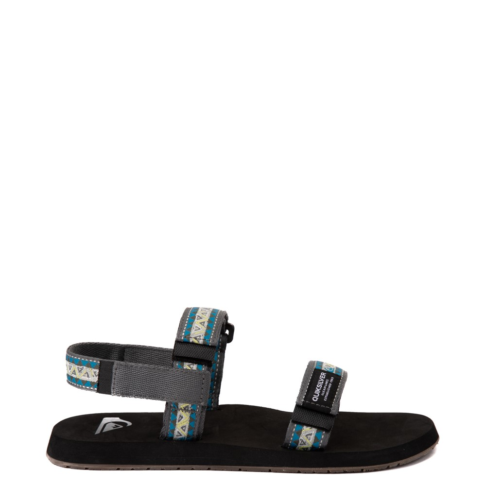 Mens Quiksilver Monkey Caged Sandal - Green / Blue / Gray