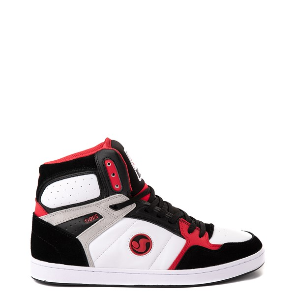 Mens DVS Honcho Skate Shoe - White / Black / Red