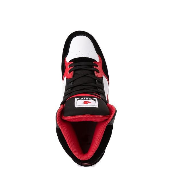 alternate view Mens DVS Honcho Skate Shoe - White / Black / RedALT2
