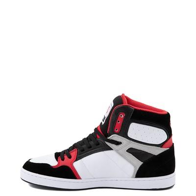 Alternate view of Mens DVS Honcho Skate Shoe - White / Black / Red