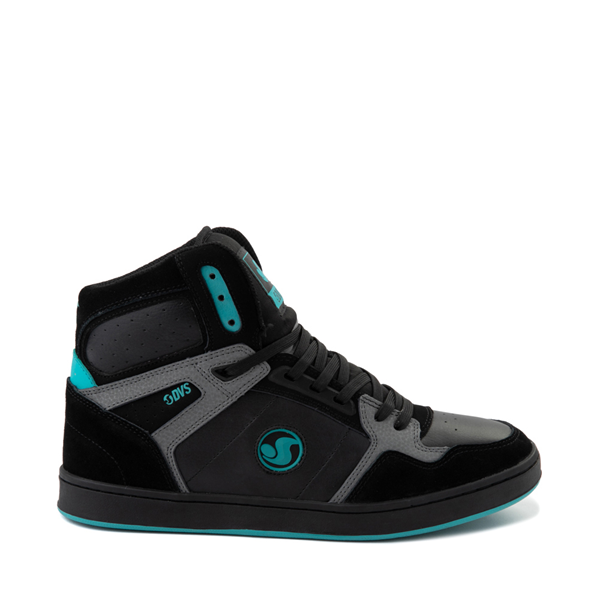 Main view of Mens DVS Honcho Skate Shoe - Black / Charcoal / Turquoise