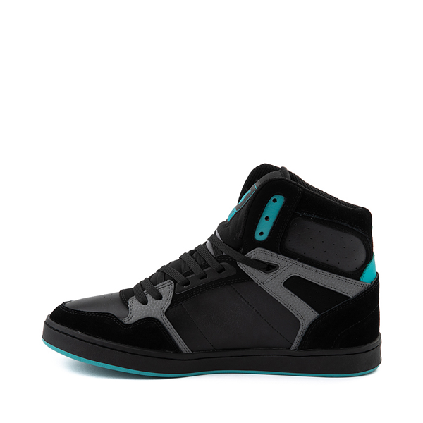 alternate view Mens DVS Honcho Skate Shoe - Black / Charcoal / TurquoiseALT1