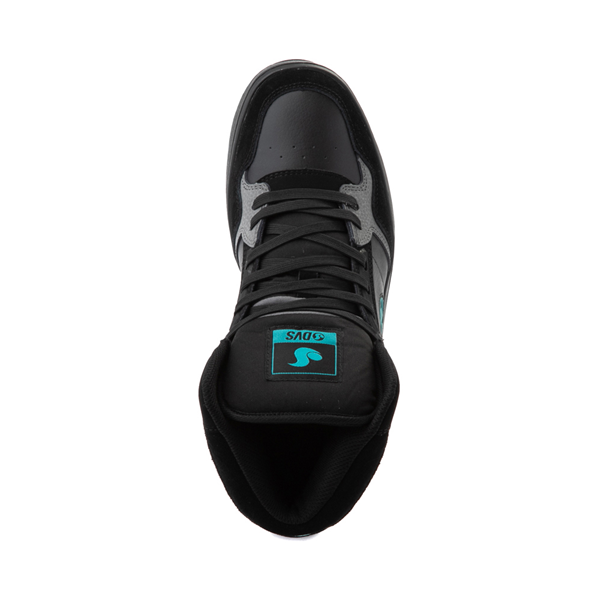 alternate view Mens DVS Honcho Skate Shoe - Black / Charcoal / TurquoiseALT2