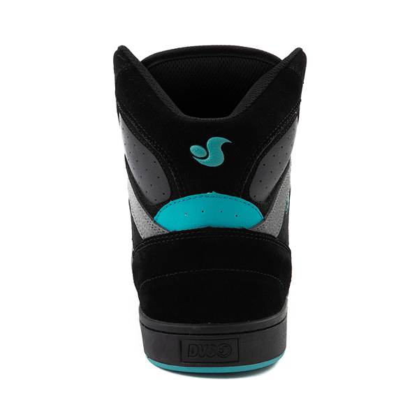 alternate view Mens DVS Honcho Skate Shoe - Black / Charcoal / TurquoiseALT4