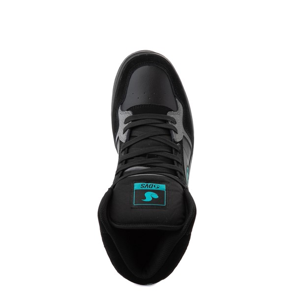 alternate view Mens DVS Honcho Skate Shoe - Black / Charcoal / TurquoiseALT4B