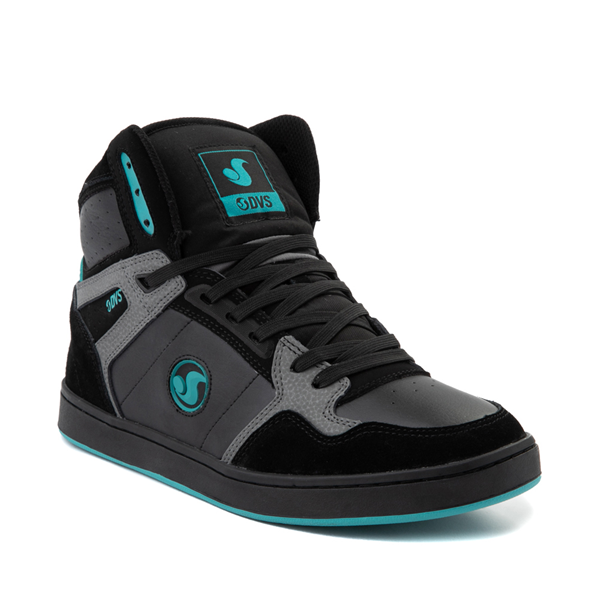 alternate view Mens DVS Honcho Skate Shoe - Black / Charcoal / TurquoiseALT5