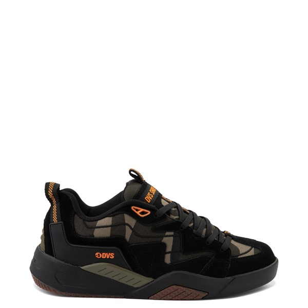 Mens DVS Devious Skate Shoe - Black / Camo / Orange