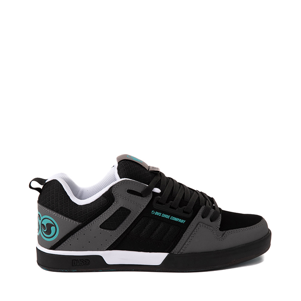 Main view of Mens DVS Comanche 2.0+ Skate Shoe - Black / Charcoal / Turquoise