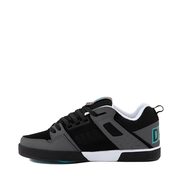 alternate view Mens DVS Comanche 2.0+ Skate Shoe - Black / Charcoal / TurquoiseALT1