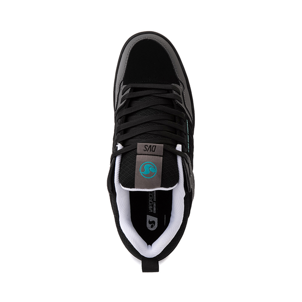 alternate view Mens DVS Comanche 2.0+ Skate Shoe - Black / Charcoal / TurquoiseALT2