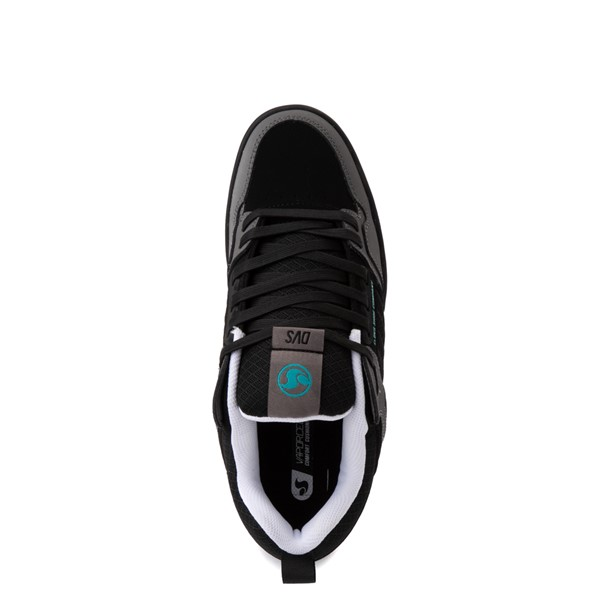 alternate view Mens DVS Comanche 2.0+ Skate Shoe - Black / Charcoal / TurquoiseALT4B