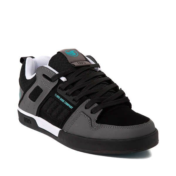 alternate view Mens DVS Comanche 2.0+ Skate Shoe - Black / Charcoal / TurquoiseALT5