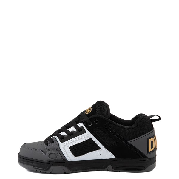 alternate view Mens DVS Comanche Skate Shoe - Black / White / CharcoalALT1