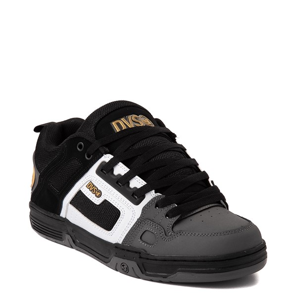alternate view Mens DVS Comanche Skate Shoe - Black / White / CharcoalALT5