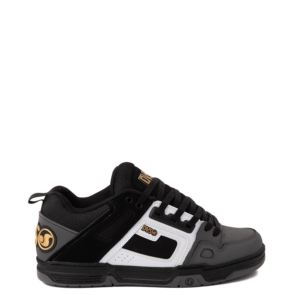 Mens DVS Comanche Skate Shoe - Black / White / Charcoal