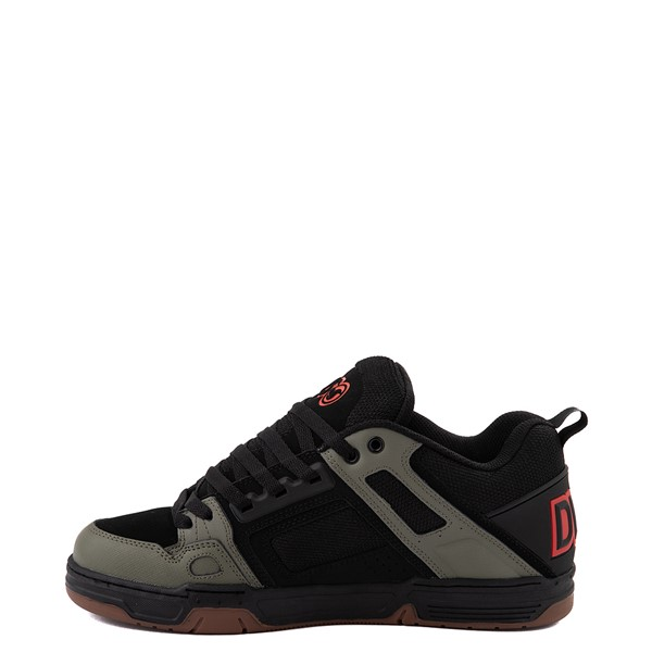 alternate view Mens DVS Comanche Skate Shoe - Black / Olive / OrangeALT1