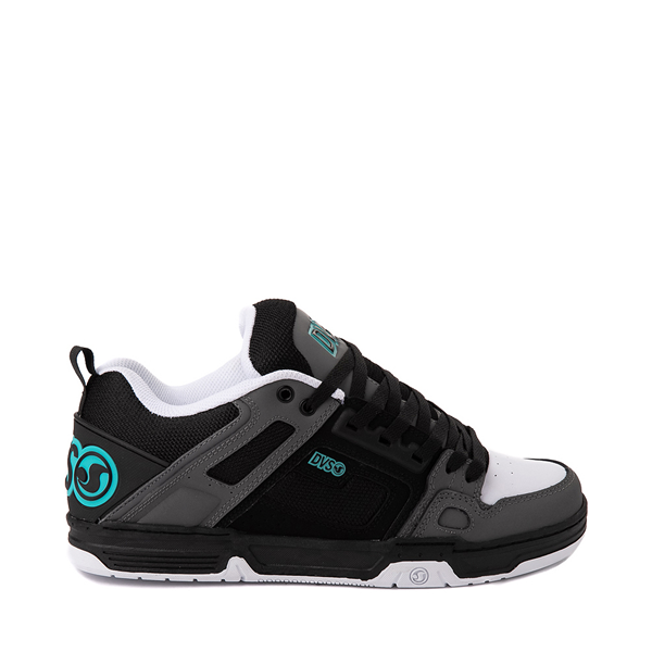 Main view of Mens DVS Comanche Skate Shoe - Black / Charcoal / Turquoise