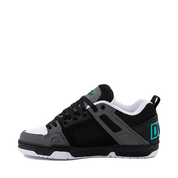 alternate view Mens DVS Comanche Skate Shoe - Black / Charcoal / TurquoiseALT1
