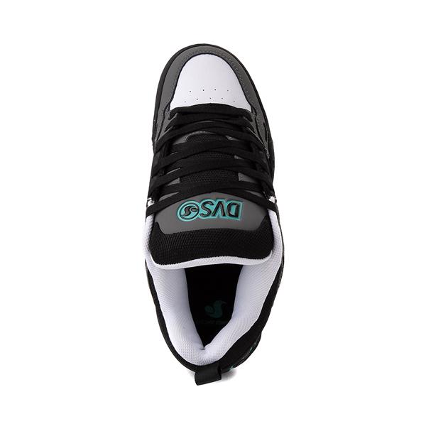 alternate view Mens DVS Comanche Skate Shoe - Black / Charcoal / TurquoiseALT2