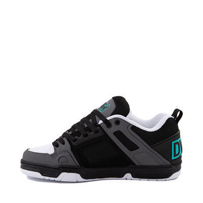 Alternate view of Mens DVS Comanche Skate Shoe - Black / Charcoal / Turquoise
