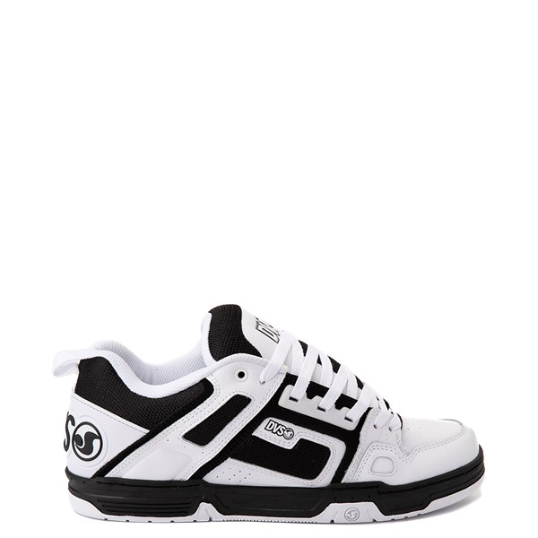 Main view of Mens DVS Comanche Skate Shoe - White / Black