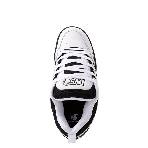alternate view Mens DVS Comanche Skate Shoe - White / BlackALT2