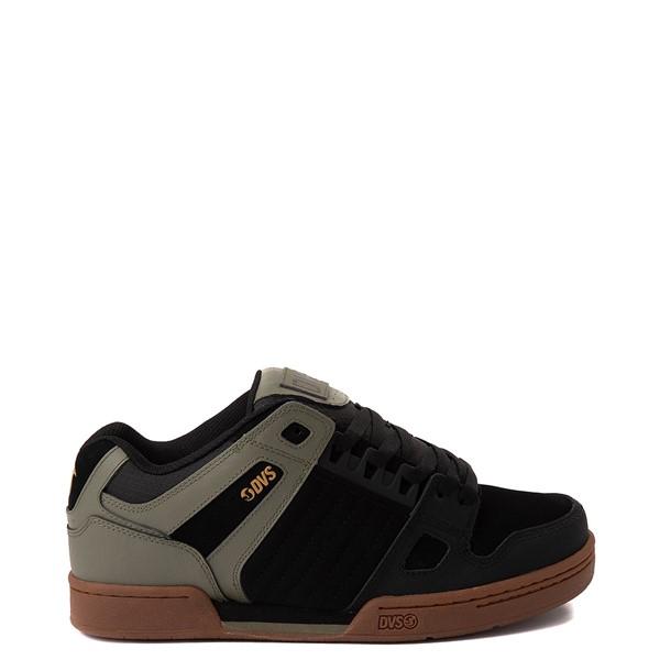 Main view of Mens DVS Celcius Skate Shoe - Black / Olive / Gum