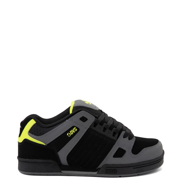 Main view of Mens DVS Celsius Skate Shoe - Black / Charcoal / Lime