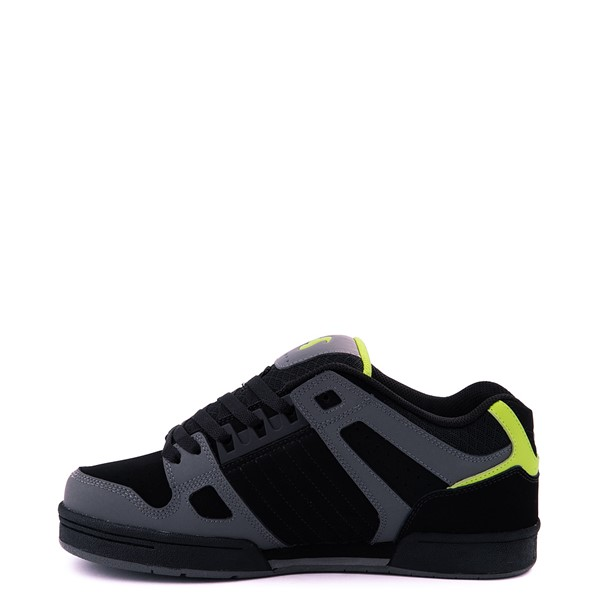 alternate view Mens DVS Celsius Skate Shoe - Black / Charcoal / LimeALT1